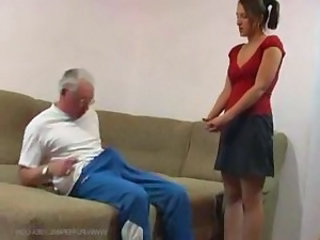 Daddy Daughter Man Old and Young Skirt Teen