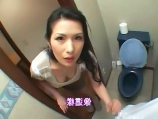 Asian Handjob Japanese MILF Pov Toilet