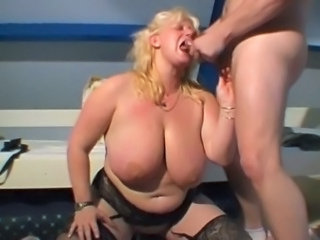 BBW Big Tits Blonde Blowjob Mature Natural