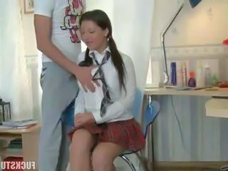Babe Student Teen Uniform