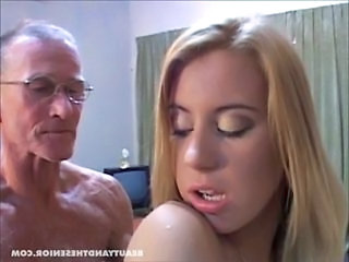 Cute Daddy Daughter Doggystyle Old and Young Teen