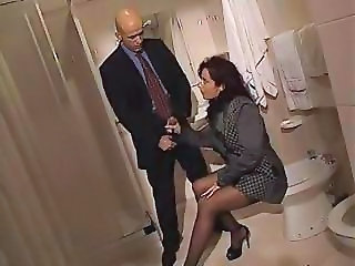 Bathroom European French MILF Pornstar Vintage