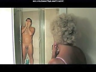 European Italian Mature Mom Old and Young Showers Voyeur