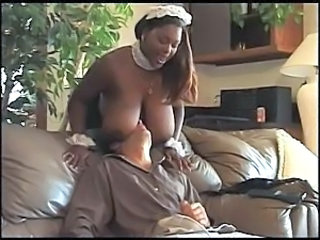 Big Tits Ebony Maid