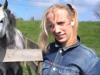 Amateur Farm Outdoor Pigtail Teen