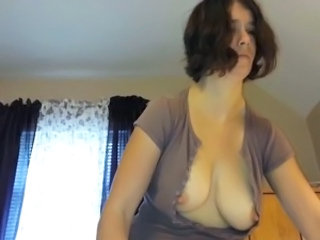 Titillating Chell Nipples Through Shirt 048