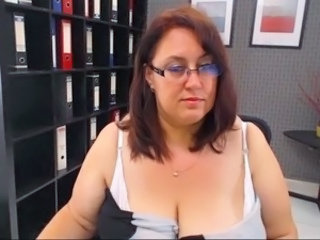 BBW Glasses Mature Office Secretary Webcam