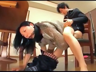 Asian Clothed Hardcore MILF Mom Old and Young Riding