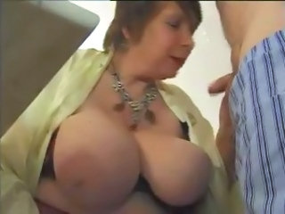 BBW Big Tits Blowjob Mature Natural SaggyTits