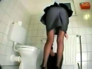 Ass Stockings Toilet Voyeur