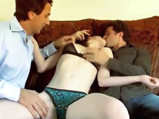 Homemade Kissing Russian Skinny Teen Threesome