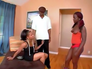 Daughter Ebony Family MILF Mom Old and Young Teen Threesome