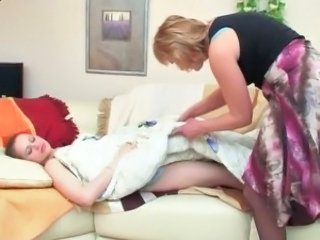Daughter Lesbian Mom Old and Young Pantyhose Russian Sleeping