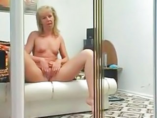 Masturbating Mature Stripper
