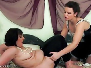 Chubby European French Lesbian Maid Mature
