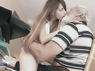 Cute Daddy Daughter Kissing Old and Young