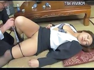 Asian Drunk Japanese MILF Secretary