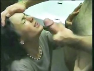 Cumshot Facial French MILF