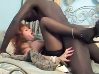 Hardcore Interracial MILF Stockings