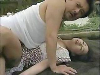 Asian Clothed MILF Outdoor