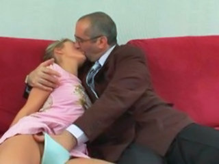 Kissing Old and Young Panty Teacher