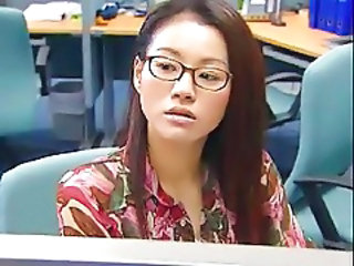 Asian Chinese Glasses Office Teen