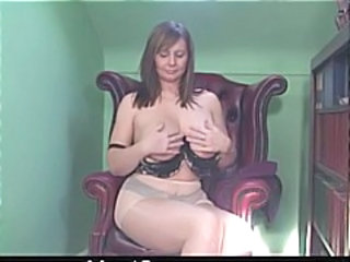 British Bus European MILF Natural Pantyhose Stripper