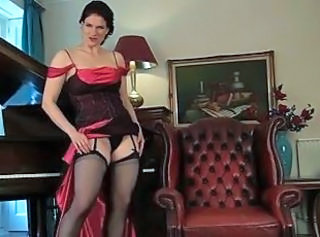 Amazing  MILF Stockings Stripper
