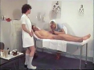 Blowjob Doctor Nurse Threesome Uniform Vintage