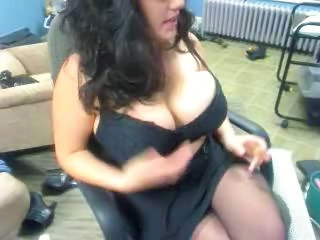 Big Tits MILF Natural Smoking Stockings
