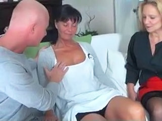 Amateur German Mature Threesome