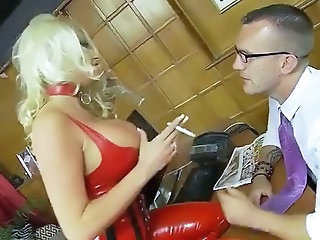 Amazing Big Tits British European Latex MILF Pornstar Silicone Tits Smoking