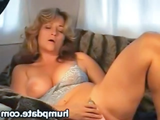 Amateur Lingerie Masturbating Mature Natural Solo