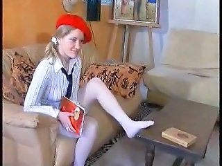 European French Stockings Student Teen