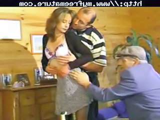 Daddy Old and Young Russian Threesome