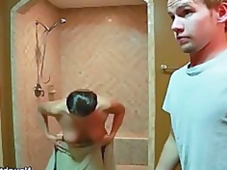 Bathroom Man MILF Mom Old and Young Voyeur