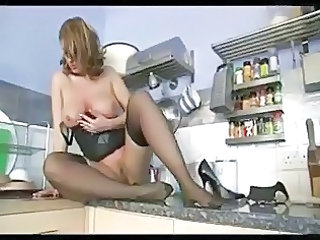 Big Tits Kitchen Mature Stockings