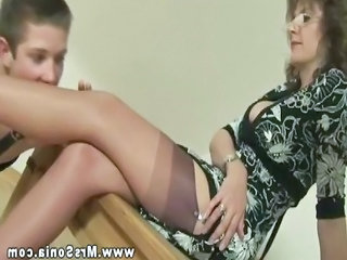 Amateur Legs Licking Stockings