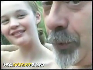 Amateur Daddy Old and Young Outdoor Young