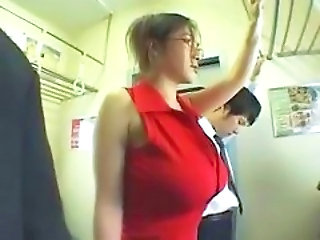 Asian Big Tits Bus Chinese Glasses MILF Public