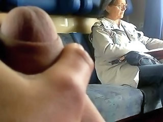 Handjob Mature Public Train