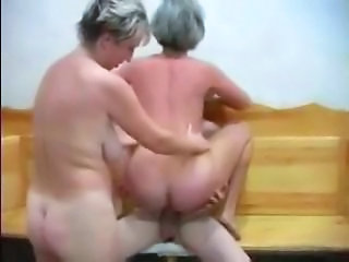 Mature Riding Russian Threesome