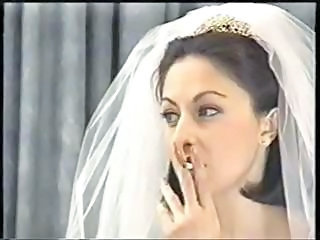 Bride Smoking