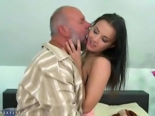 Brunette Cute Daddy Daughter Old and Young Teen
