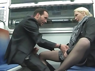 Clothed MILF Public Stockings