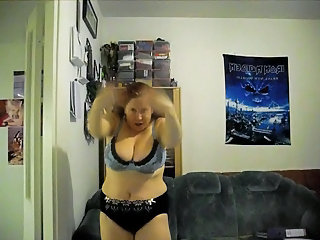 Amateur Chubby Dancing Homemade Lingerie