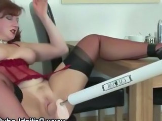 British European Machine MILF Stockings