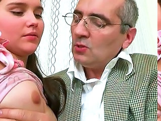 Blowjob Daddy Old and Young Small Tits Teacher