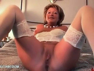 Lingerie Mature Pussy Shaved Stockings