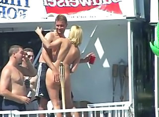 Amateur Nudist Outdoor Party Public